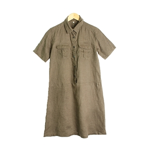 uniqlo linen100% shirt SHIRT( MAN )