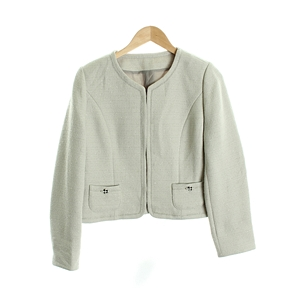 linen Jacket_couture brooch OUTER( WOMAN )