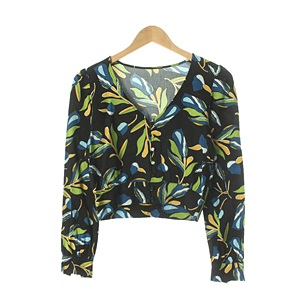 CLEAL ROOM 면 SHIRTWOMAN Size W99-